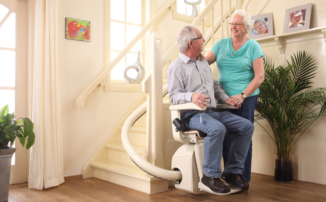 Stairlift image old people